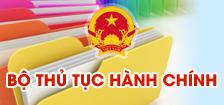 Bộ thủ tục HC trang CCHC