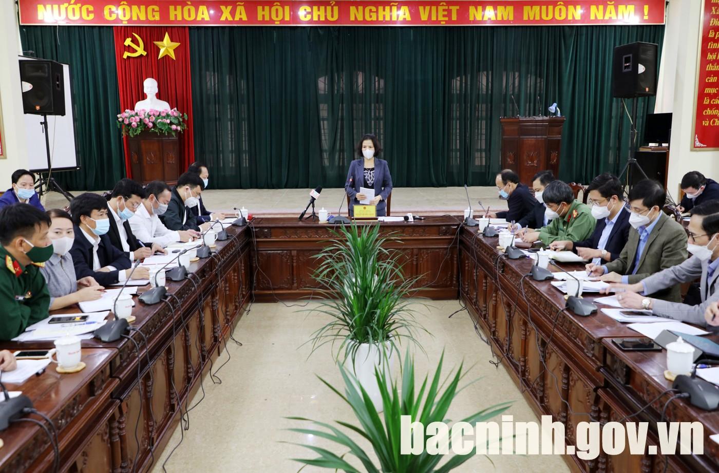 Chủ tịch UBND tỉnh làm việc với huyện Quế Võ về công tác phòng, chống dịch Covid-19 trên địa bàn