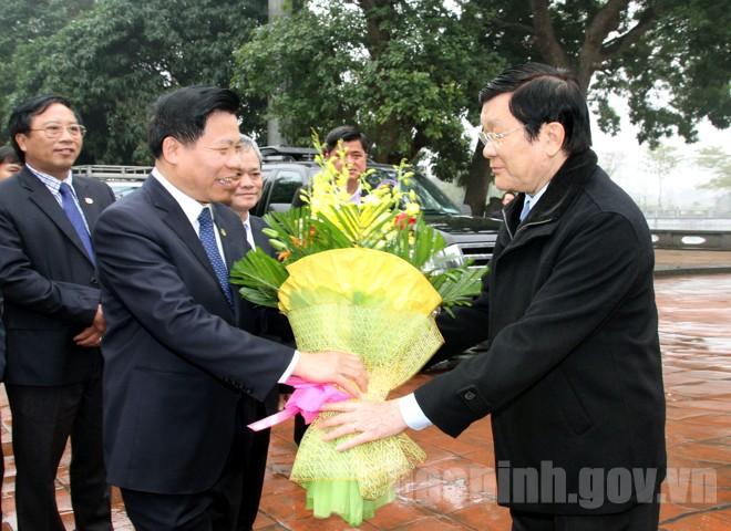 Một số hình ảnh hoạt động của Chủ tịch nước Trương Tấn Sang tại Bắc Ninh